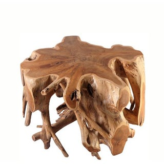 Organic Modern Small Round Teak Root Coffee Table Preview