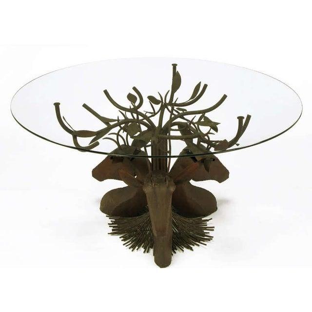Studio Steel Sculpture Deer Trio Dining Table - Image 2 of 4