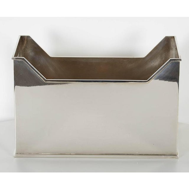 20th Century Traditional Silvered Metal Container For Sale - Image 9 of 10