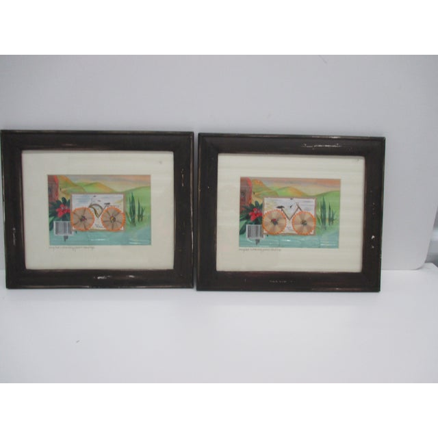 1990s Pair of Vintage Collages With Recycled Materials For Sale - Image 5 of 5