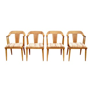 Vintage Mid Century Tomlinson Dining Arm Chairs- Set of 4 For Sale