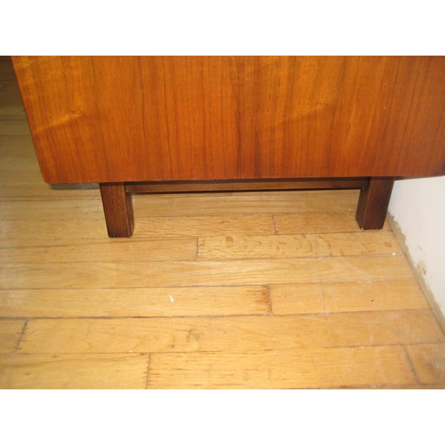 1960s Mid Century Walnut Two Piece Credenza For Sale - Image 9 of 10