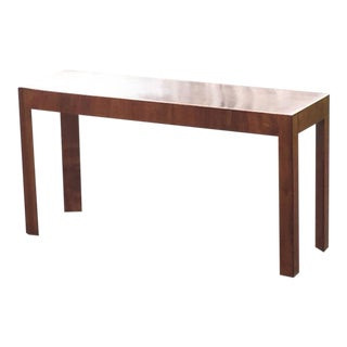 Mid-Century Modern Italian Walnut Console Table For Sale