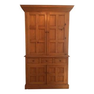 Solid Pine Armoire Cabinet