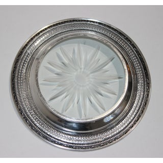 Sterling Silver & Cut Glass Wine Bottle Coaster by Franklin Whiting Preview