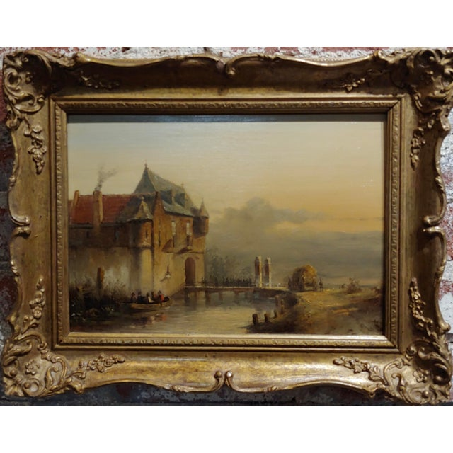 Petrus Gerardus Vertin- Soldiers Entering a Castle -19th century Dutch Oil painting Oil painting on board -Signed & dated...