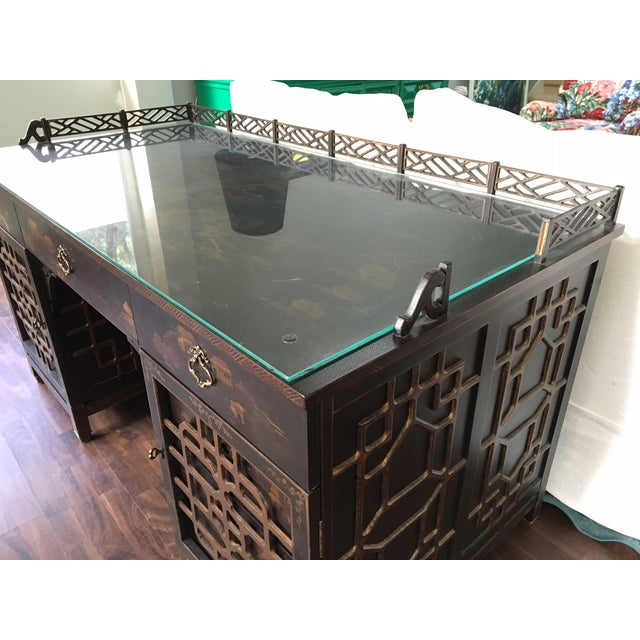 Drexel Heritage Mandalay Asian Chinoiserie Desk - Image 11 of 11