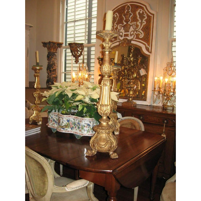 19th Century Gilt Wood Candlestick For Sale - Image 9 of 10