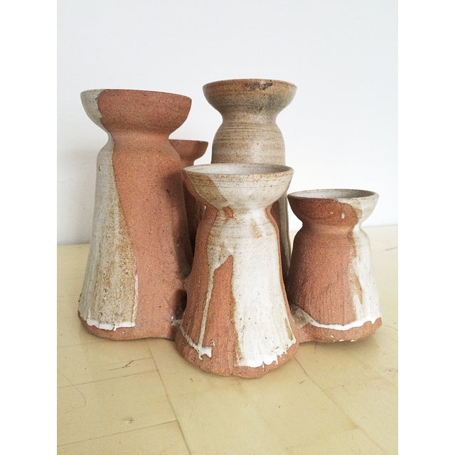 Mid-Century Studio Pottery Candle Holder - Image 2 of 10