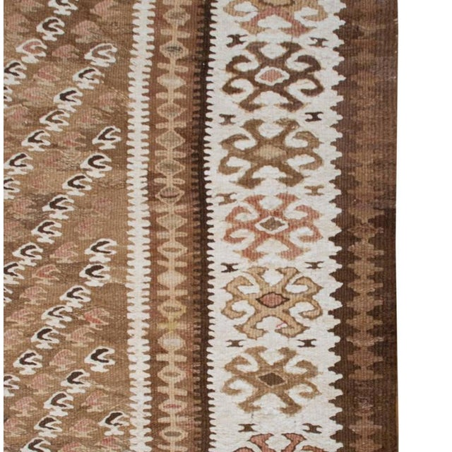 "Early 20th Century Qazvin Kilim Runner - 40"" x 126"" For Sale - Image 4 of 5"