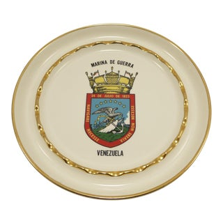 Vintage Venezuela Naval Battle of 1823 Porcelain Ashtray