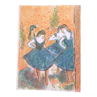 "Wayne Ensrud ""Homage to Degas 1"" Artist Proof Lithograph Print For Sale"