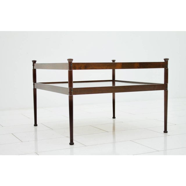 Scandinavian wood and glass Coffee table circa 1960s. Very good condition.