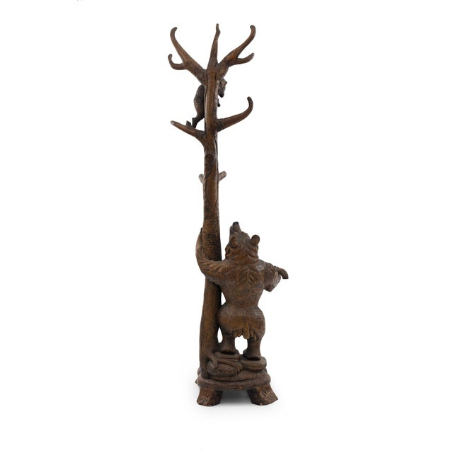 Mid 20th Century Rustic Black Forest Style '20th Century' Hatrack/Umbrella Stand For Sale - Image 5 of 9