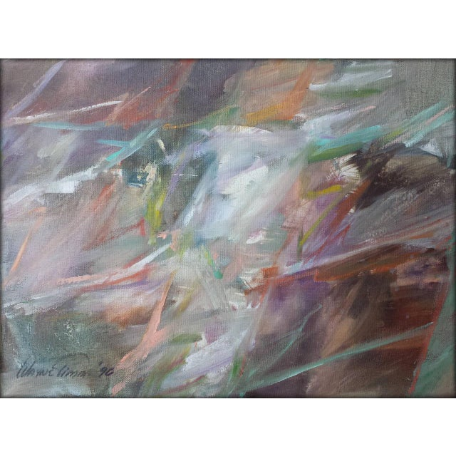 """1990s Abstract Oil on Canvas Painting """"Classic"""" by Wayne Timm For Sale - Image 9 of 9"""