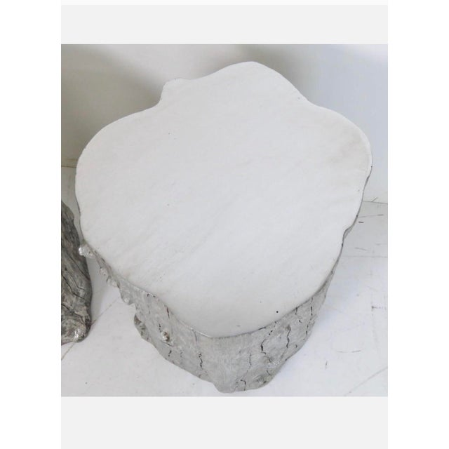 Silvered Tree Trunk Side Tables -- A Pair - Image 3 of 3