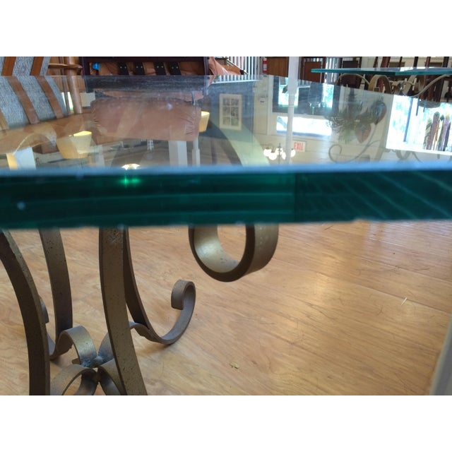 Regency Glass Top Side Accent Tables - A Pair For Sale - Image 5 of 7