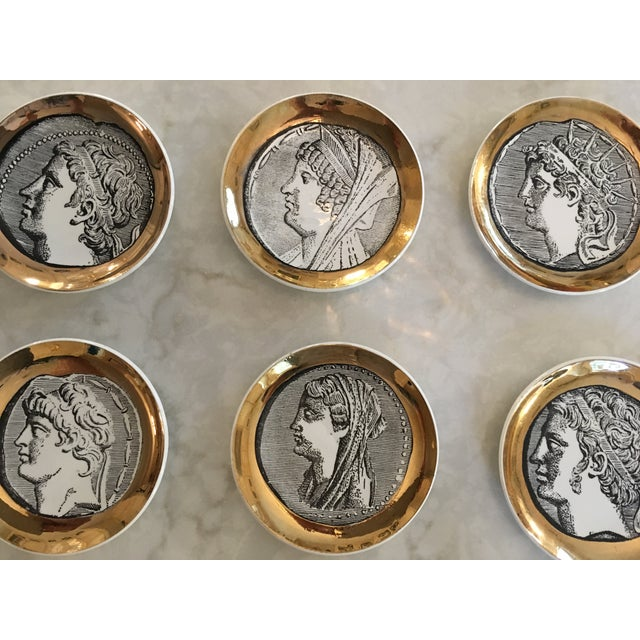 Fornasetti Coasters, Set of Six For Sale - Image 10 of 11