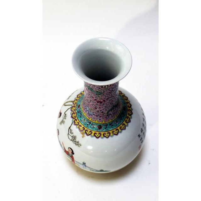 Chinese Bottle Shaped Porcelain Vase - Image 4 of 8
