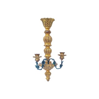 Vintage Giltwood Acanthus Candle Sconce For Sale