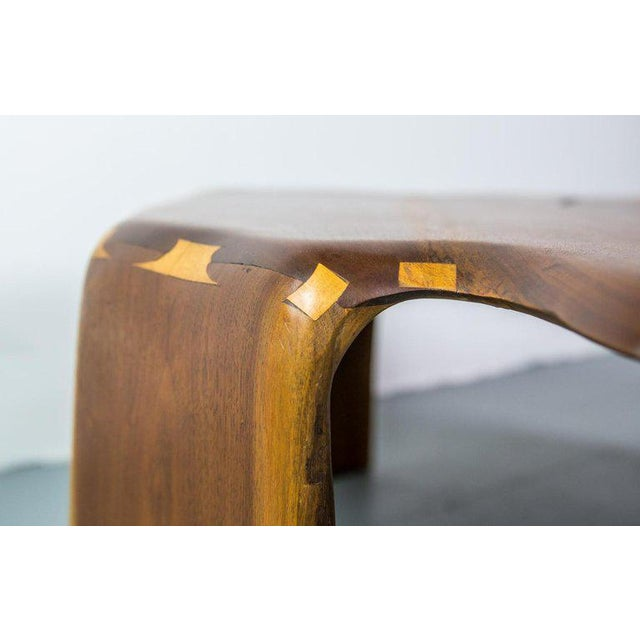 Walnut One of a Kind James Monroe Camp Studio Coffee Table in Walnut Usa 1975 For Sale - Image 7 of 9