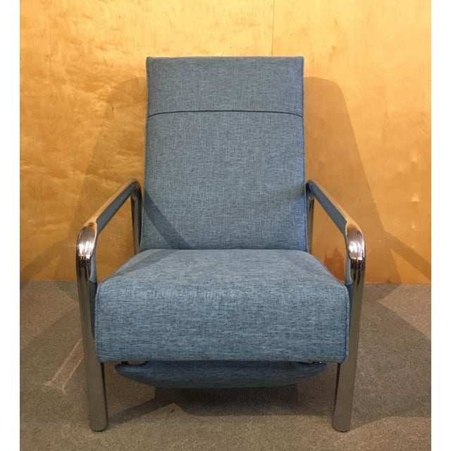 Rare mid century recliner by Milo Baughman for Thayer Coggin. Produced in 1973. Has been recently reupholstered with all...
