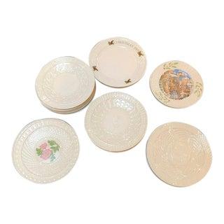 Vintage Belleek Christmas Plates - Set of 23 For Sale