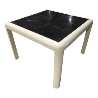 Martin Brattrud Tessellated Bone Goatskin Table