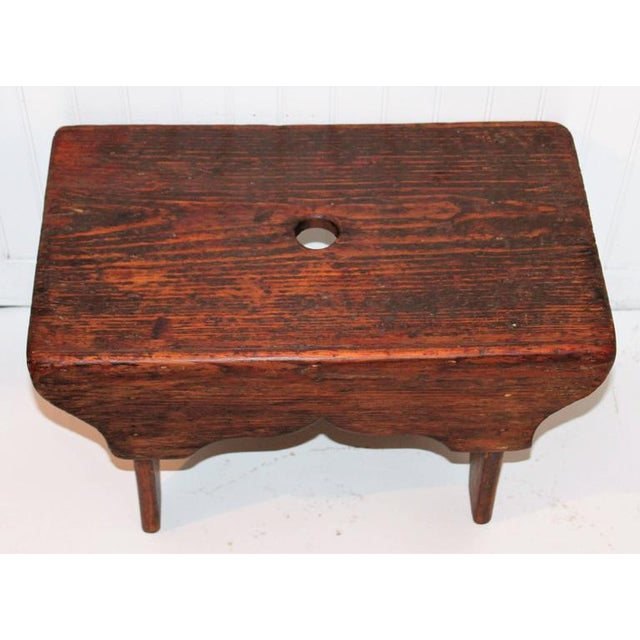 Adirondack 19th Century Natural Surface Country Stool For Sale - Image 3 of 7