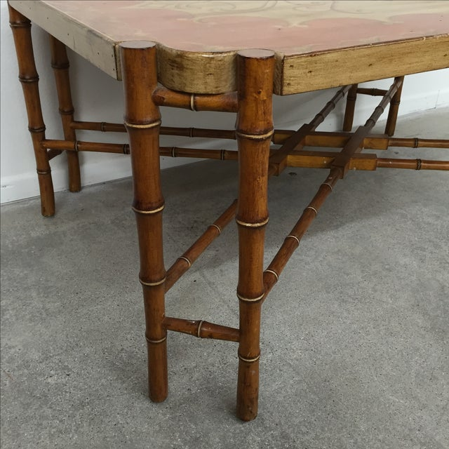 Antique Coffee Tables Ireland: Vintage Faux Bamboo Coffee Table