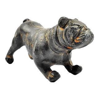 Cast Iron Bulldog Sculpture For Sale