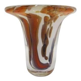 1993 Nanny Still for Val Saint Lambert Belgium Modern Cased Crystal Studio Vase For Sale