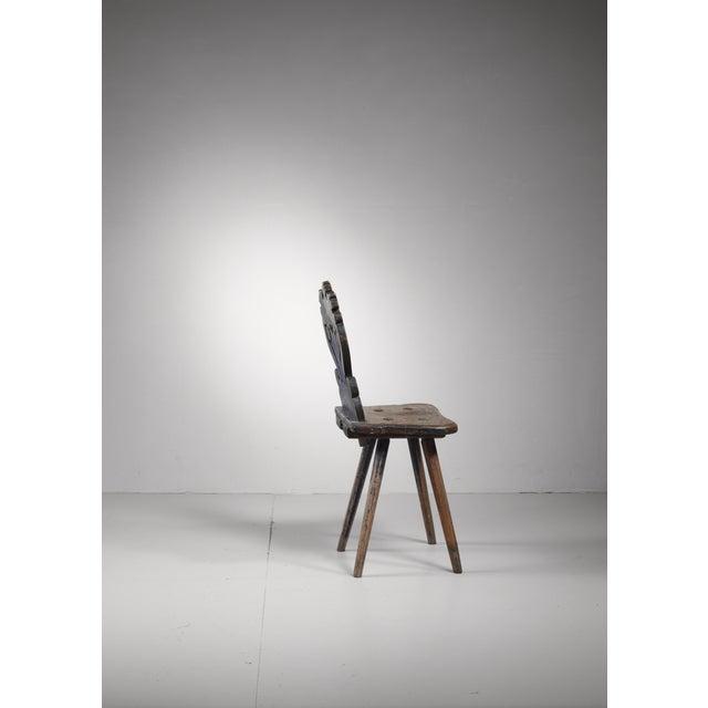Folk Art Swedish folk art chair, 19th century For Sale - Image 3 of 5