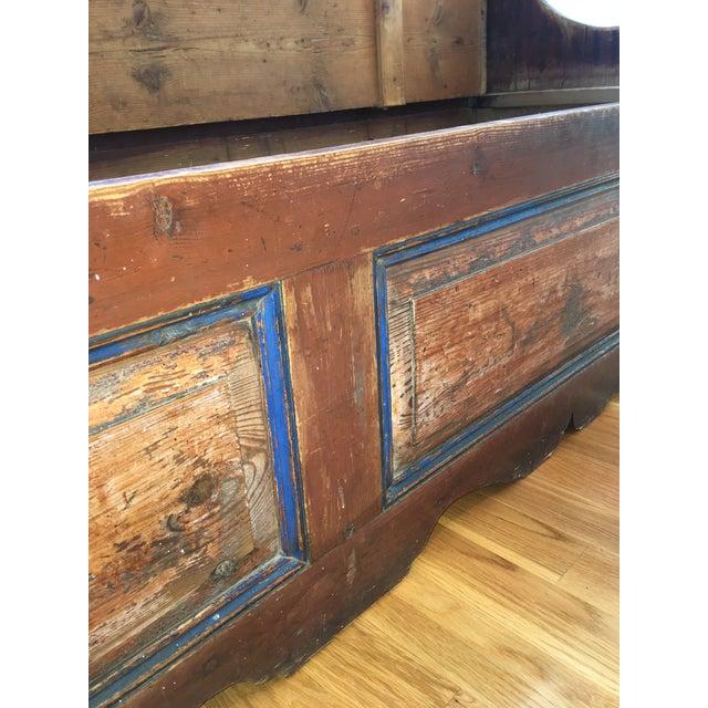 Antique Wooden Storage Bench - Image 6 of 8