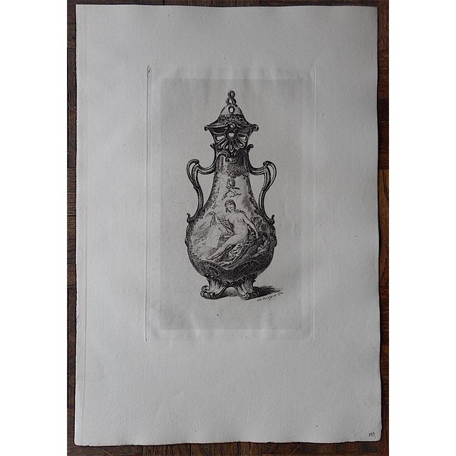 Antique Pottery Etching - Image 2 of 3