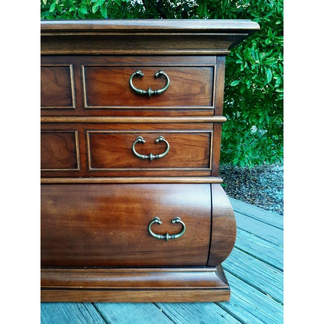 1966 Drexel Et Cetera Kettle Base Walnut 3 Drawer Accent Chest For Sale - Image 9 of 13