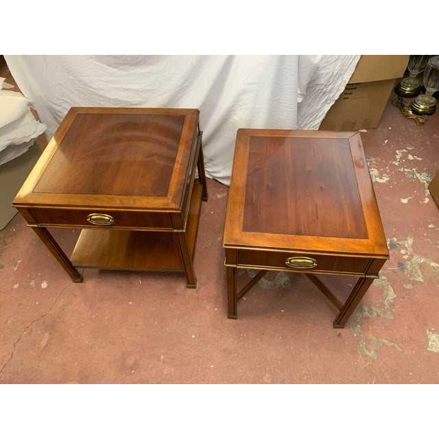 A pair of Mahogany side tables by Gordon's of Johnson City Tennessee. Over all excellent condition with a few scuffs on...