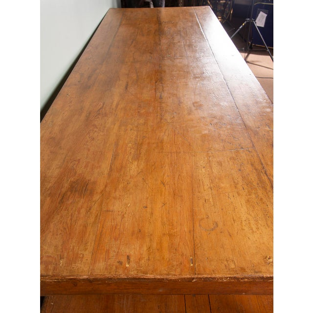 Large 19th Century French Pine Drapers Table With Original Finish For Sale - Image 10 of 13