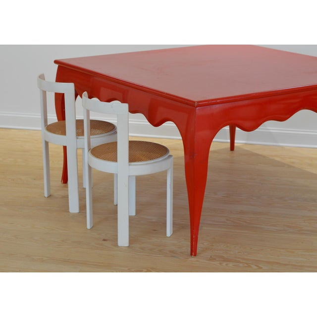 Large Scale Square Dining Table With Cabriole Legs - Image 7 of 8