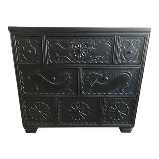 Hickory Chair Carved Chest of Drawers For Sale