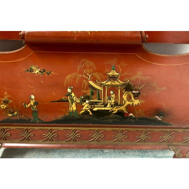 Wood Pair of English Chinoiserie Twin Beds For Sale - Image 7 of 9