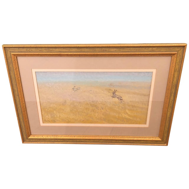 Romantic Pretty Pastel of Bunny Rabbits in a Pasture For Sale - Image 9 of 9