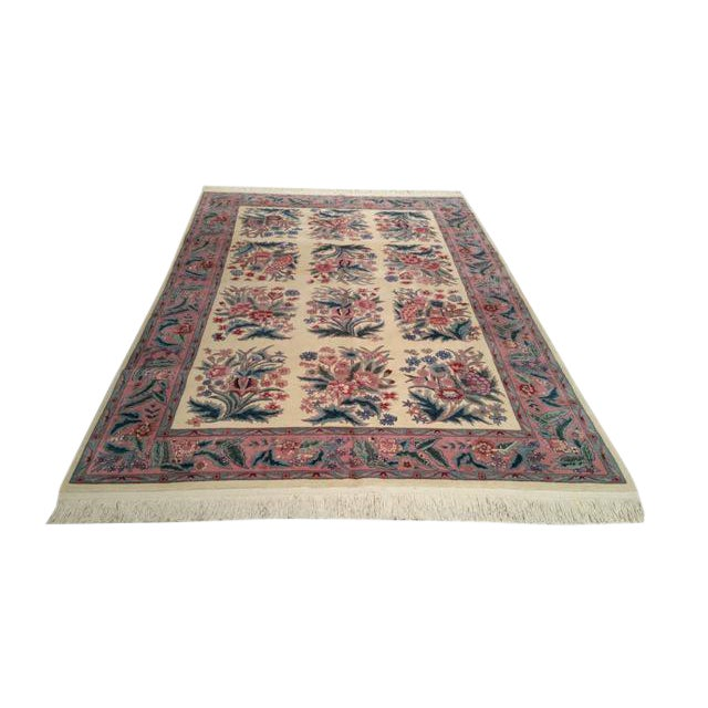 Traditional Handmade Knotted Rug - 6x9 For Sale
