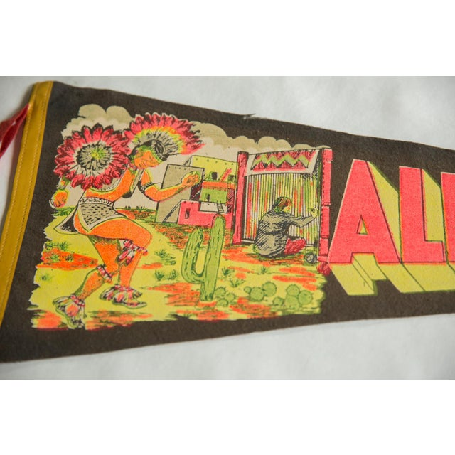 Americana Vintage Albuquerque New Mexico Felt Flag Pennant For Sale - Image 3 of 4