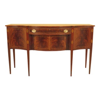 1940s Federal Potthast Bros. Federal Inlaid Mahogany Sideboard For Sale