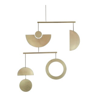 Modern Contemporary Brass Kinetic Mobile Wall Object For Sale