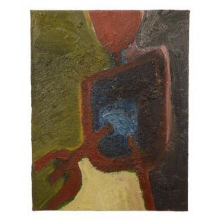 "Modern Abstract Painting ""Chillida IX by Moises Monteferro"" For Sale"
