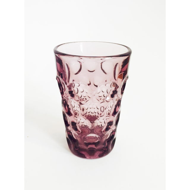 Vintage Purple Juice Glasses - Set of 8 For Sale - Image 4 of 5