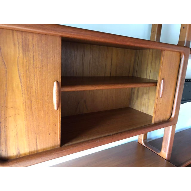 Brown Mid-Century Dyrlund Danish Solid Teak Wall Cabinet For Sale - Image 8 of 13