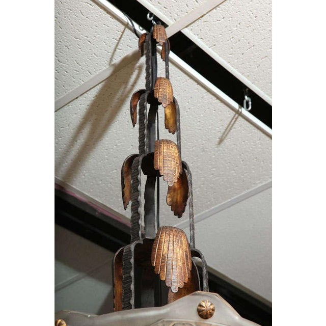 French Art Deco Chandelier by Sabino For Sale - Image 9 of 10
